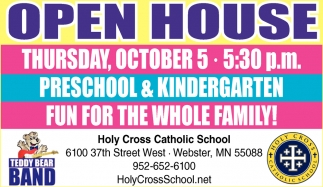 Open House, Holy Cross Catholic School , Webster, MN