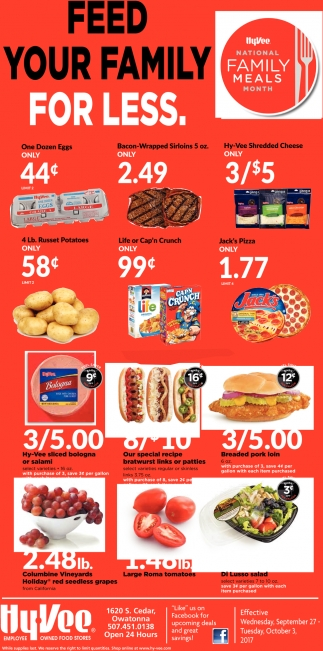 Hy-Vee National Family Meals Month