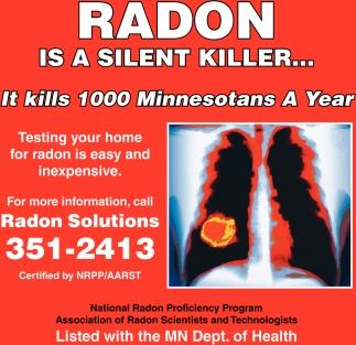 Radon is a silent killer