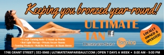 Keeping you bronzed year-round!