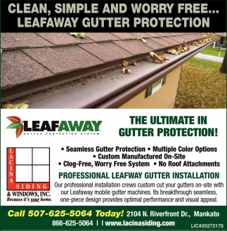 The Ultimate In Gutter Protection Lacina Siding And