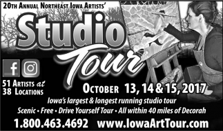 20th Annual Northeast Iowa Artists Studio Tour