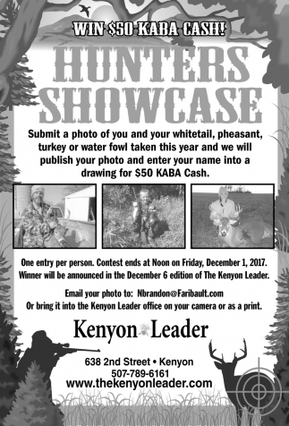 Hunters Showcase, The Kenyon Leader, Faribault, MN
