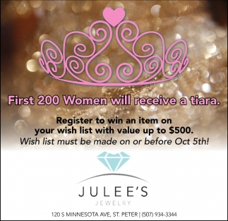 First 200 Women will receive a tiara