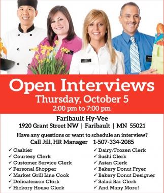Faribault: Open Interviews