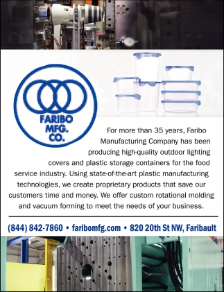 Serving for 35 Years, Faribo Manufacturing