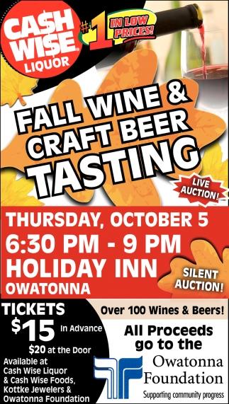 Fall Wine & Craft Beer Tasting