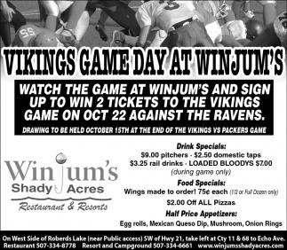 Vikings Game Day at Winjum's