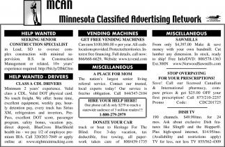 Minnesota Classified Advertising Network