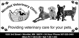 Providing veterinary care for your pets