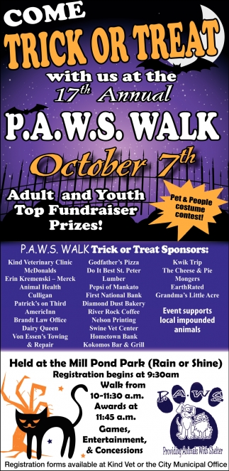 17th Annual P.A.W.S. Walk