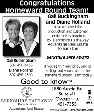 Gail Buckingham and Diane Holland