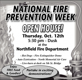 National Fire Prevention Week, Northfield Fire Department