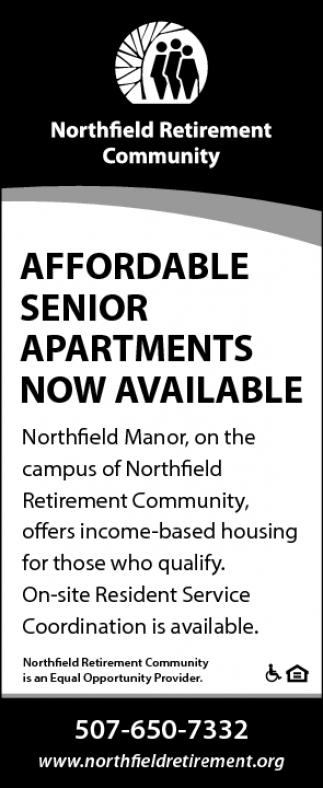 AFFORDABLE SENIOR APARTMENTS NOW AVAILABLE