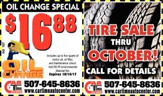 Tire Sale Thru October!