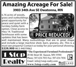 Amazing Acreage For Sale!