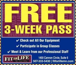 Free 3 Week Pass