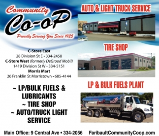 LP & Bulk Fuels Plant, Tire Shop, Auto & Light Truck Service