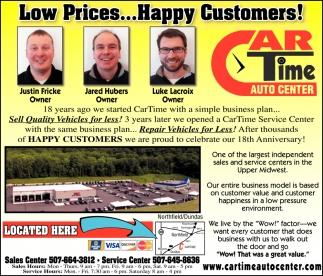Low Prices... Happy Customers!