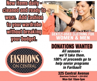 Gently Used Clothing for Women & Men