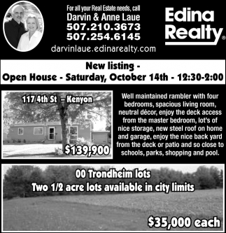 New Listing, Open House