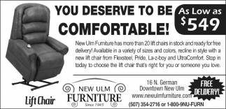 Superb Lift Chair, New Ulm Furniture, New Ulm, MN
