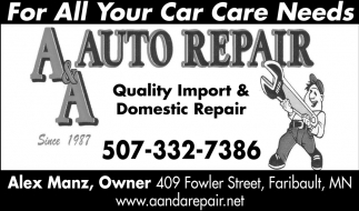 For All Your Car Care Needs
