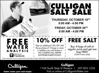 Culligan Salt Sale