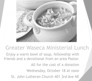 Greater Waseca Ministerial Lunch