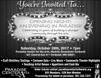 Opening Night: An Evening in Paradise