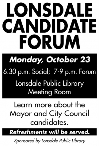 Lonsdale Candidate Forum