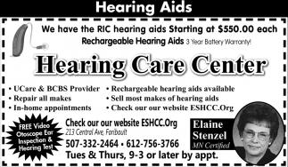 Free Video Otoscope Ear Inspection & Hearing Test