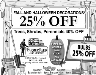 Fall and Halloween Decorations 25% off
