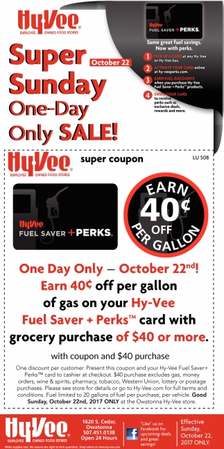 Super Sunday One Day Only Sale!