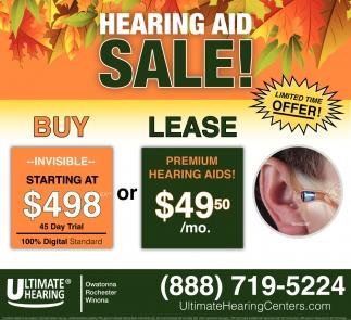 Hearing Aid Sale!