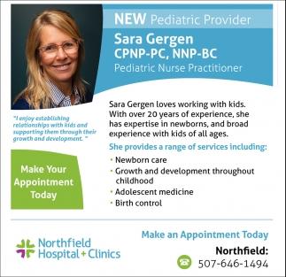 Sara Gergen CPNP-PC, NNP-BC