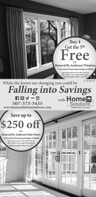 Falling into Savings, Home Solutions Midwest, Albert Lea, MN
