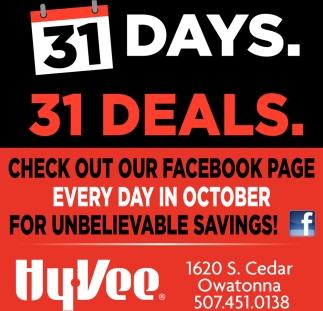 31 Days. 31 Deals