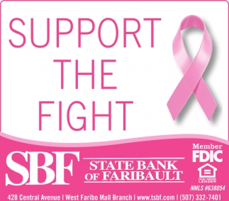 Breast Cancer, State Bank of Faribault, Faribault, MN