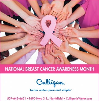 National Breast Cancer Awareness Month, Culligan, Waseca, MN