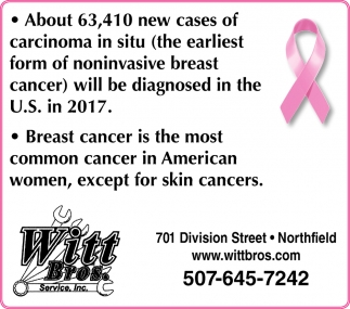 Breast Cancer, Witt Bros. Services Inc