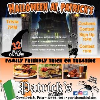 Halloween at Patrick's