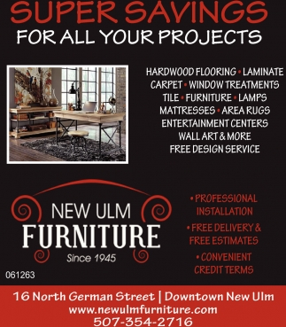 Super Savings, New Ulm Furniture, New Ulm, MN