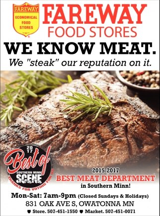 2015-2017 Best Meat Department