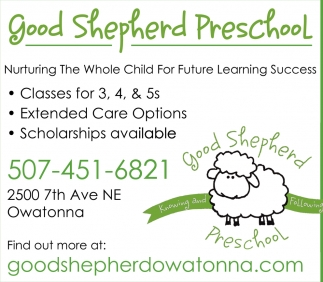 Good Shepherd Preschool, Good Shepherd Church - Owatonna, Owatonna, MN