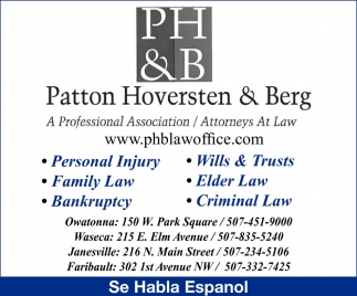 Patton, Hoversten and Berg, PA & Gardner Tax Service