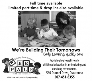 We're Building Their Tomorrows, Wee Pals Child Care Center