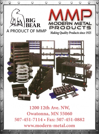 Making Quality Products since 1925, Modern Metal Products, Owatonna, MN