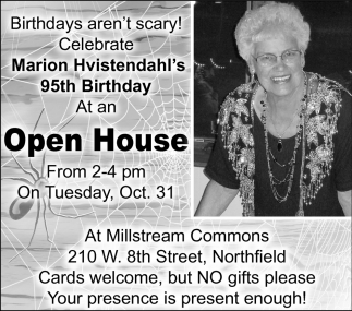 95th Birthday, Marion Hvistendahl's
