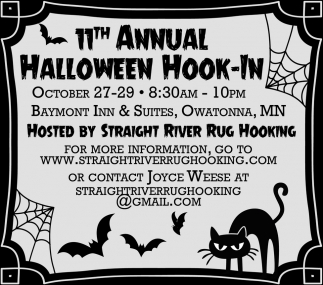 11th Annual Halloween Hook-In, Straight River Rug Hooking, Owatonna, MN